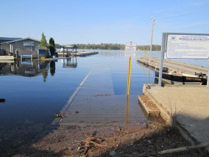 one of 2 government docks under water
